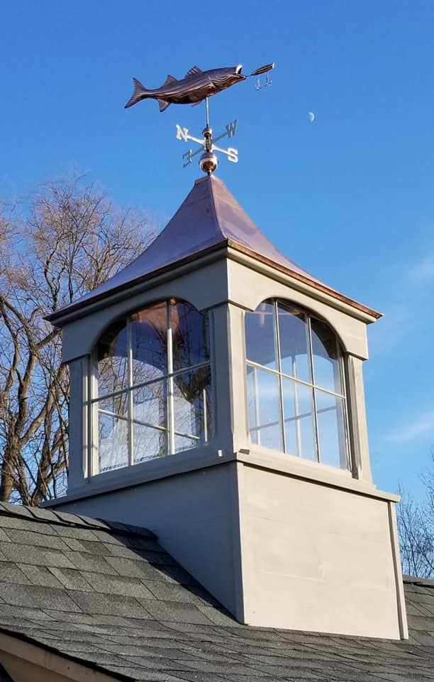 Our Extra Large Copper Roof Windowed Cupola With Copper Weathervane In 2020 Cupolas Copper Roof Dream Home Design