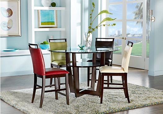 Ciara Espresso 5 Pc Counter Height Dining Set Dining Room
