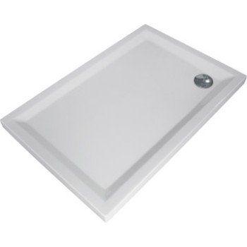 Receveur De Douche Rectangulaire L 160 X L 80 Cm Acrylique Blanc