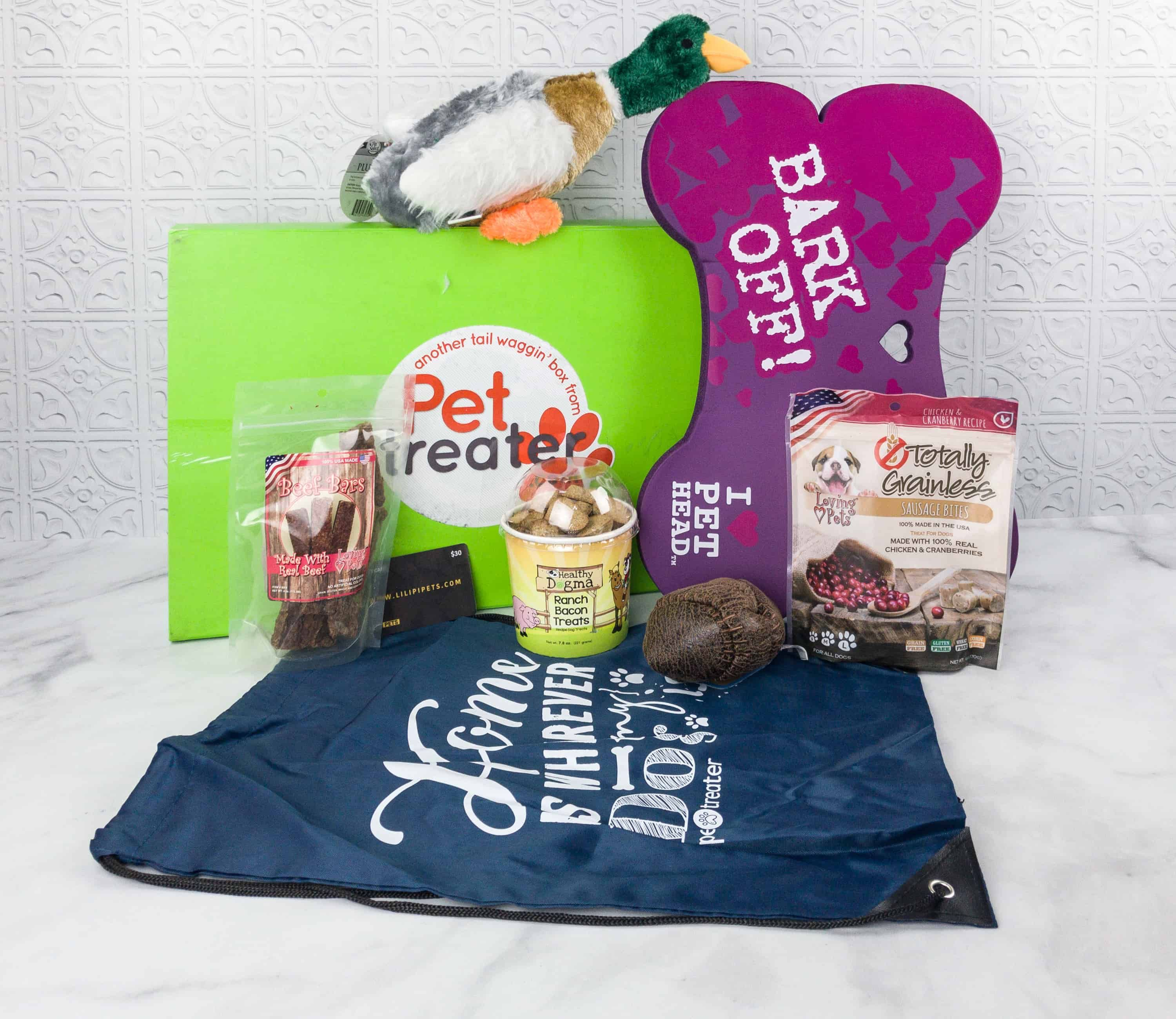 Pet Treater Deluxe Dog Pack Dog Toys Pets Subscription Boxes