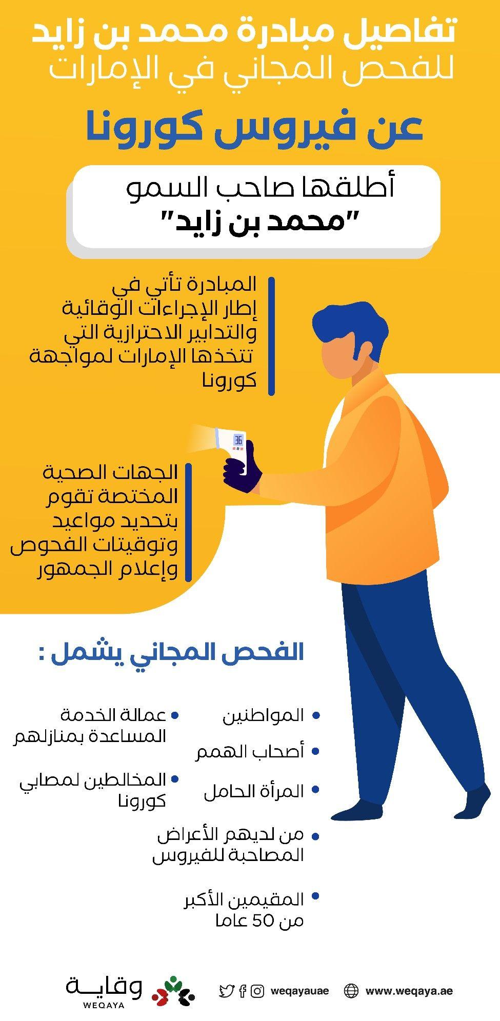 تفاصيل مبادرة محمد بن زايد للفحص المجاني في الإمارات Ill