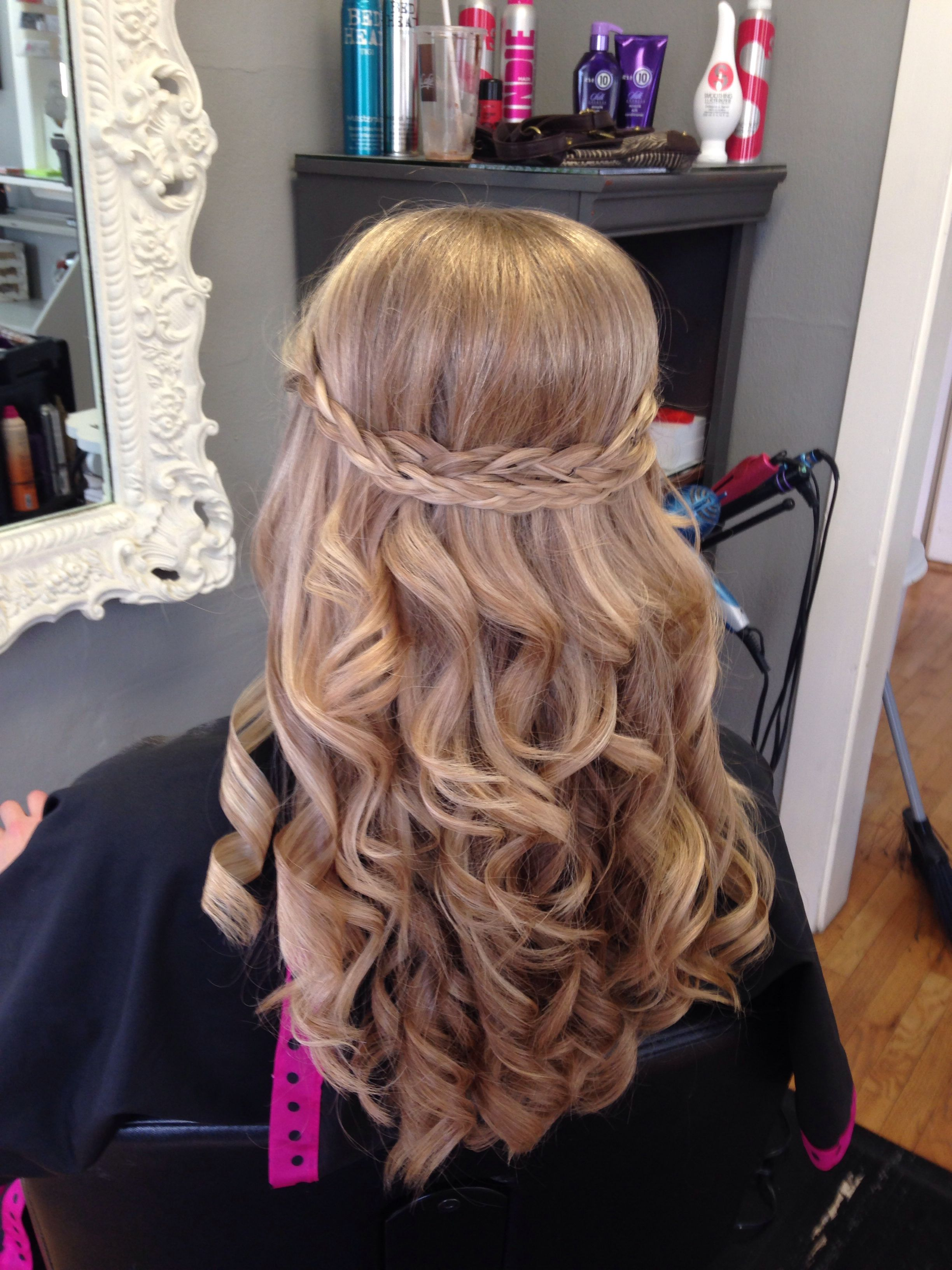 Hair style for prom done by bri turpin turpin riesterer