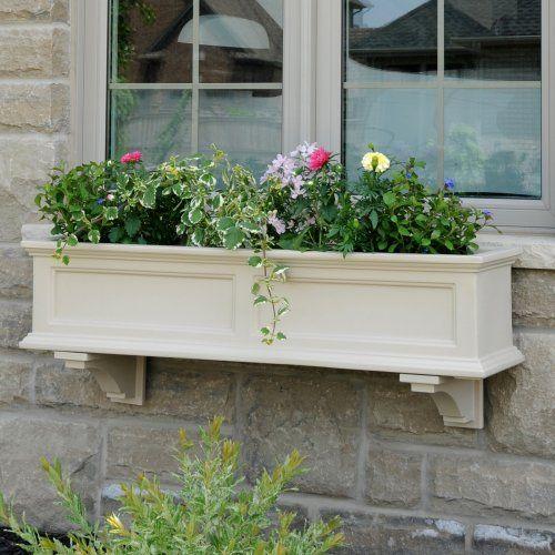 Mayne 48 Inch Rectangle Polyethylene Fairfield Window Box Planters