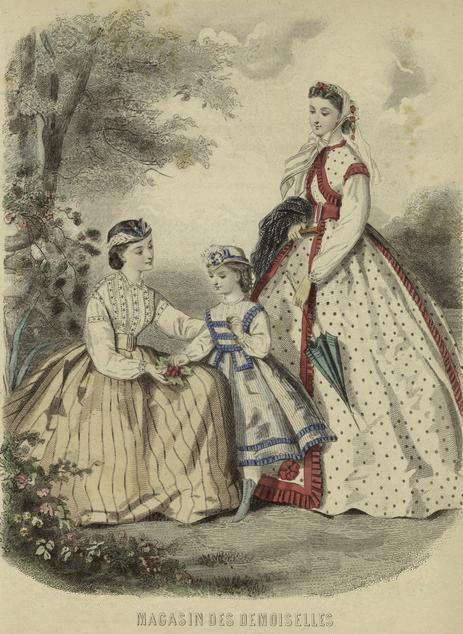 Fashion Plate from mid to late 1800s | Flickr - Photo Sharing! #dressesfromthesouthernbelleera