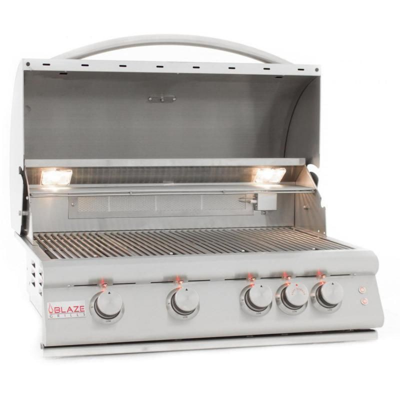 Blaze Lte 32 Inch 4 Burner Built In Propane Gas Grill With Rear Infrared Burner Grill Lights Blz 4lte2 Gas Grill Outdoor Kitchen Design Natural Gas Grill