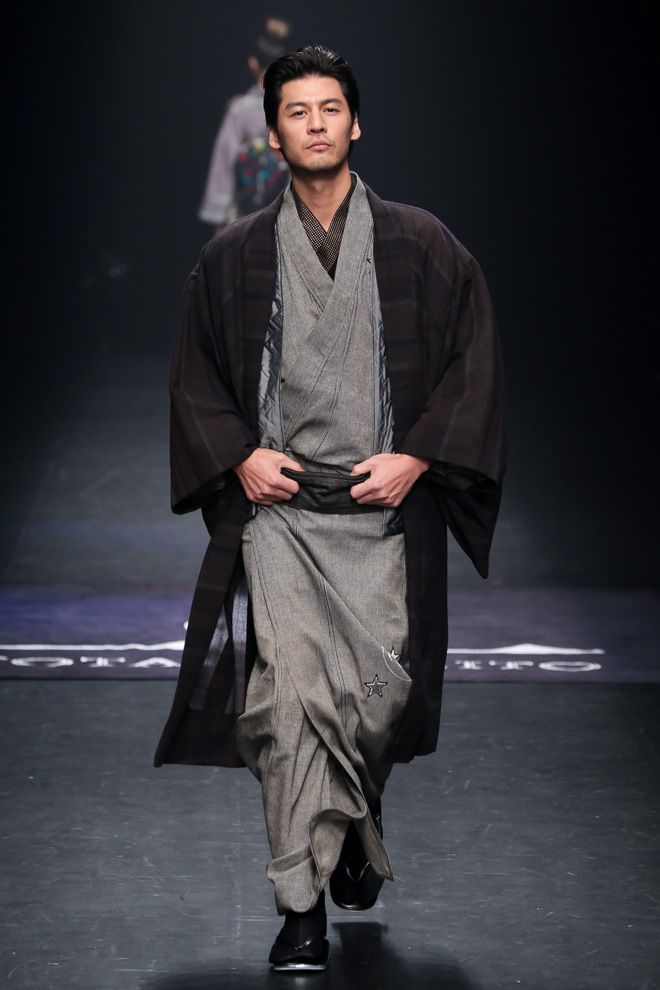 Men S Kimono By Jotaro Saito Aw 2014 Style Dudes Do Kimonos