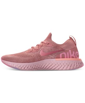 best website bb2b9 9c091 Nike Women s Epic React Flyknit Running Sneakers from Finish Line - Red 9.5