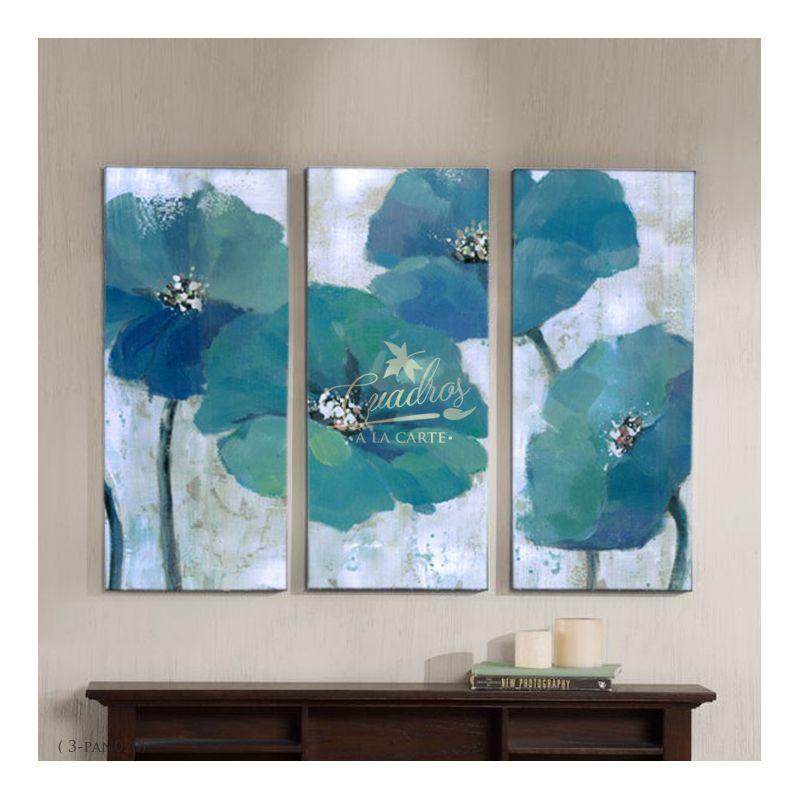 Flores Geranios Azules Cuadros Decorativos Al óleo En 2019