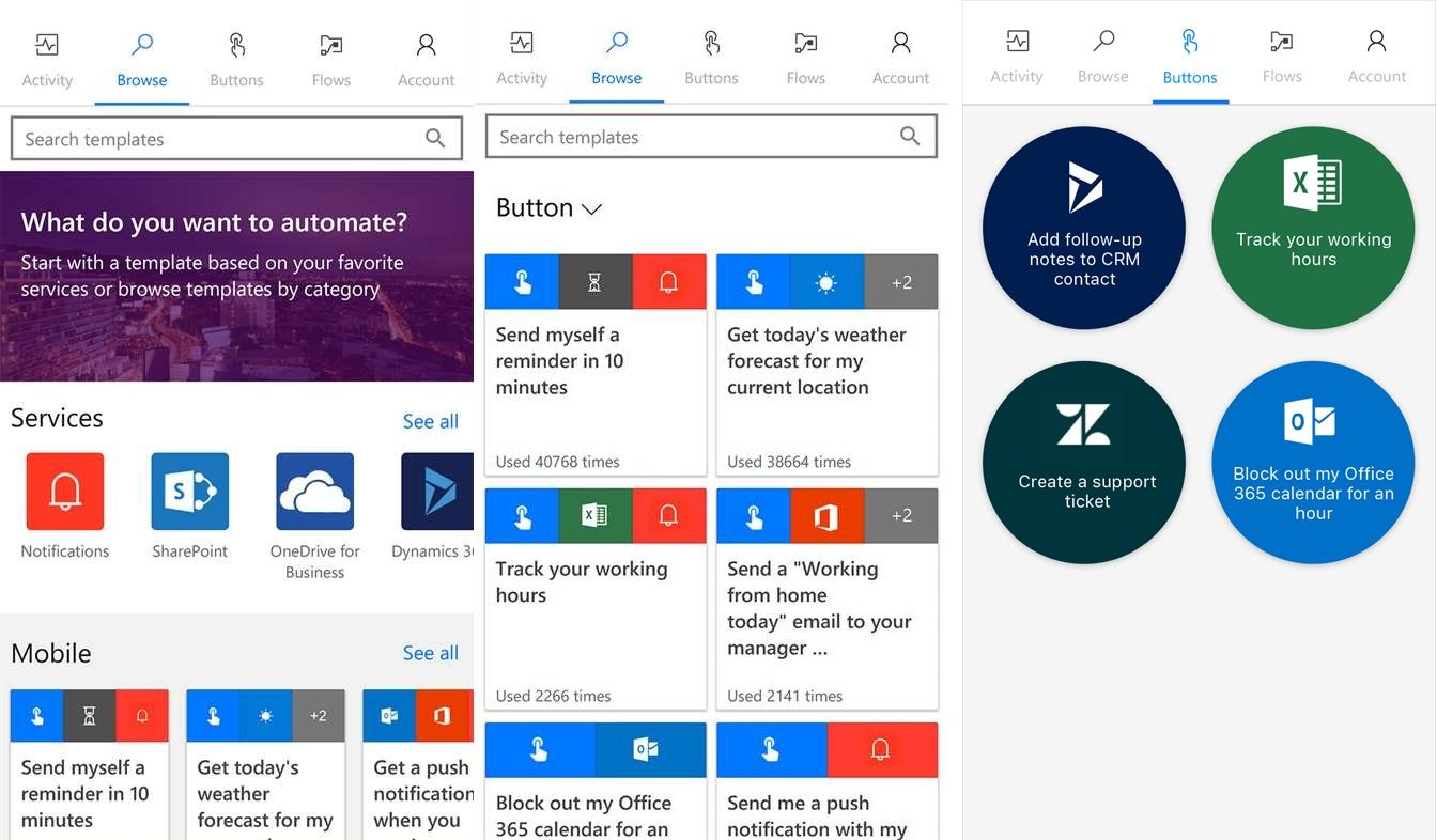 Microsoft Flow Windows 10 Mobile app now available   Computer info