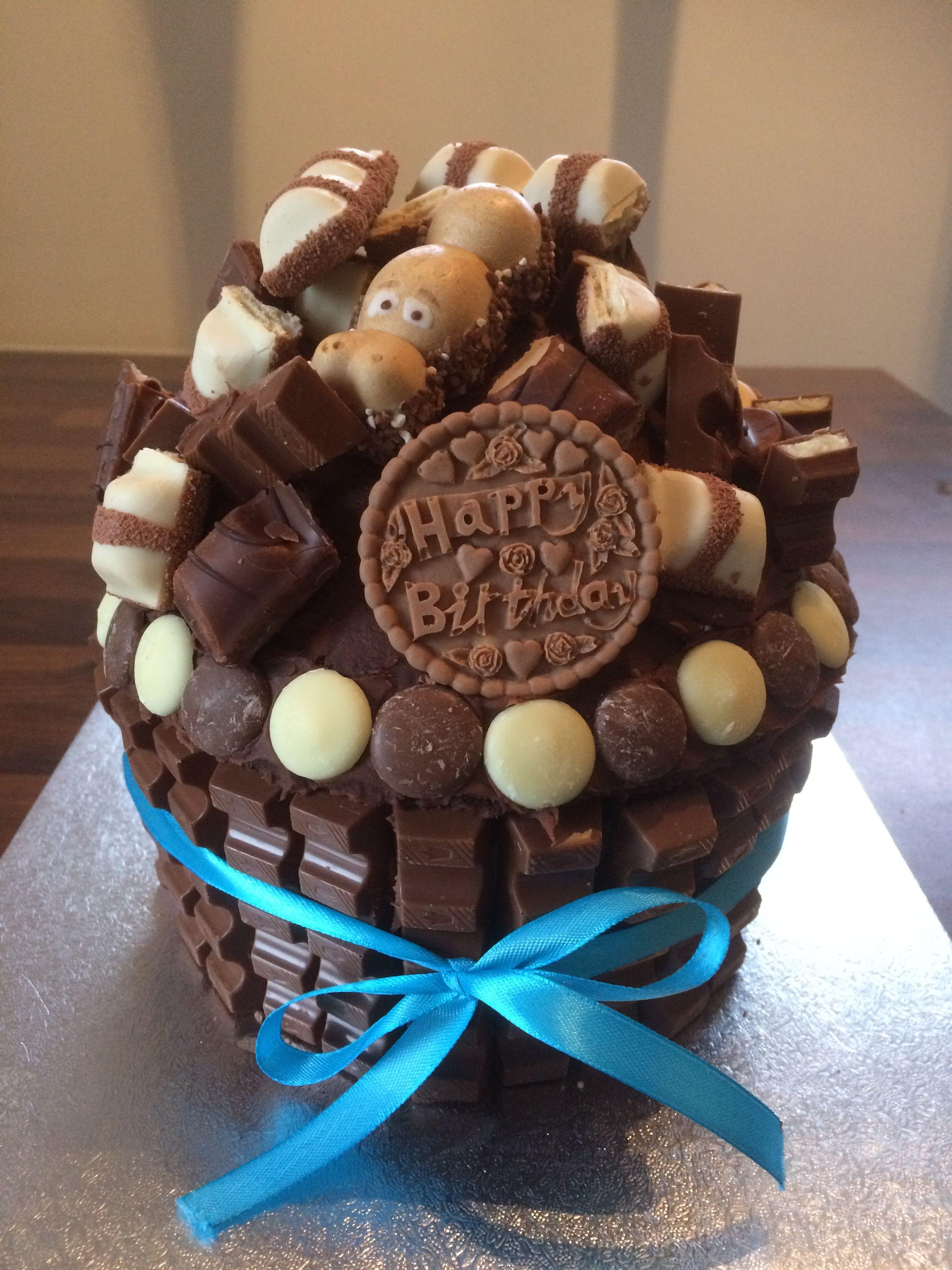 Chocolate cupcake loaded with kinder chocolate bars