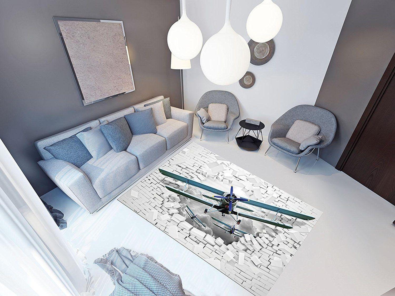 Fußboden Mit 3d Effekt ~ Pvc vinyl fussboden fußboden boden teppich matte forwall flugzeug