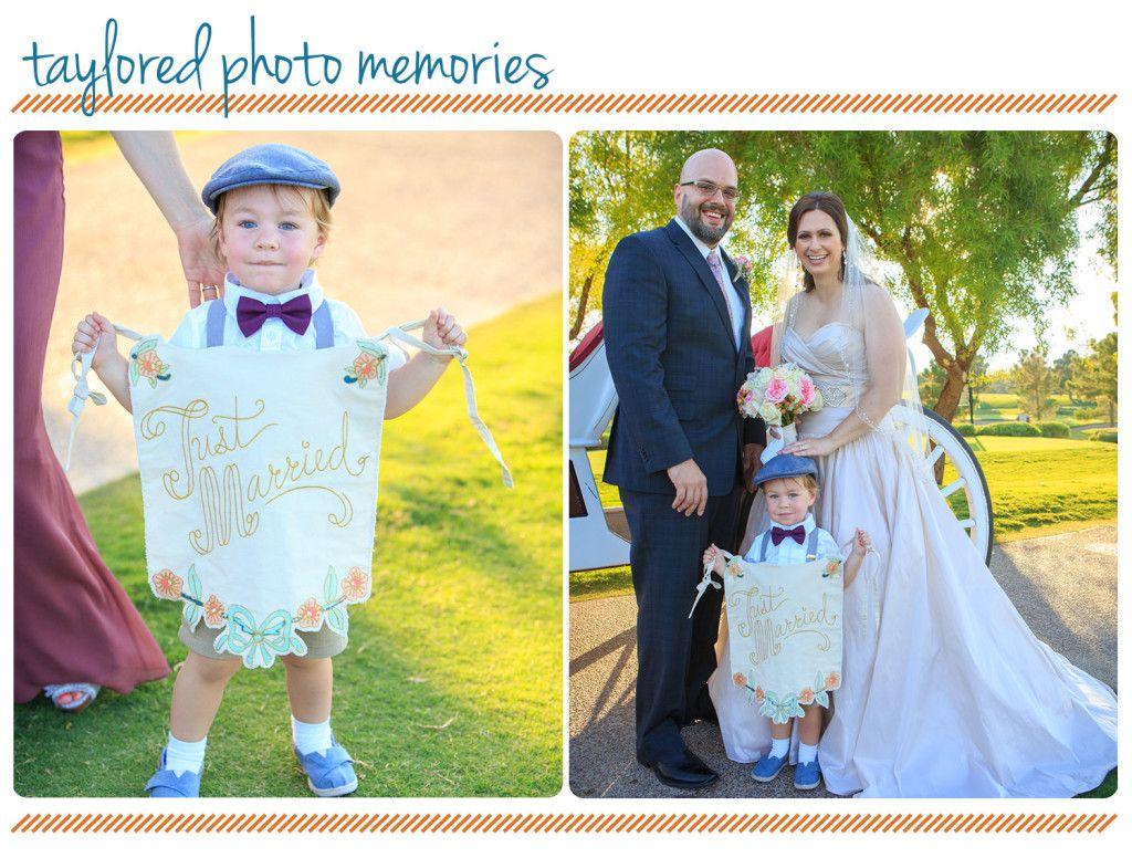 Cute ring bearer ideas | A Fairy Tale Wedding in Las Vegas - Taylored Photo Memories