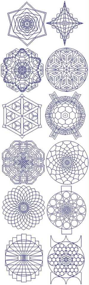 Advanced Embroidery Designs Snowflake Bluework Set Needle