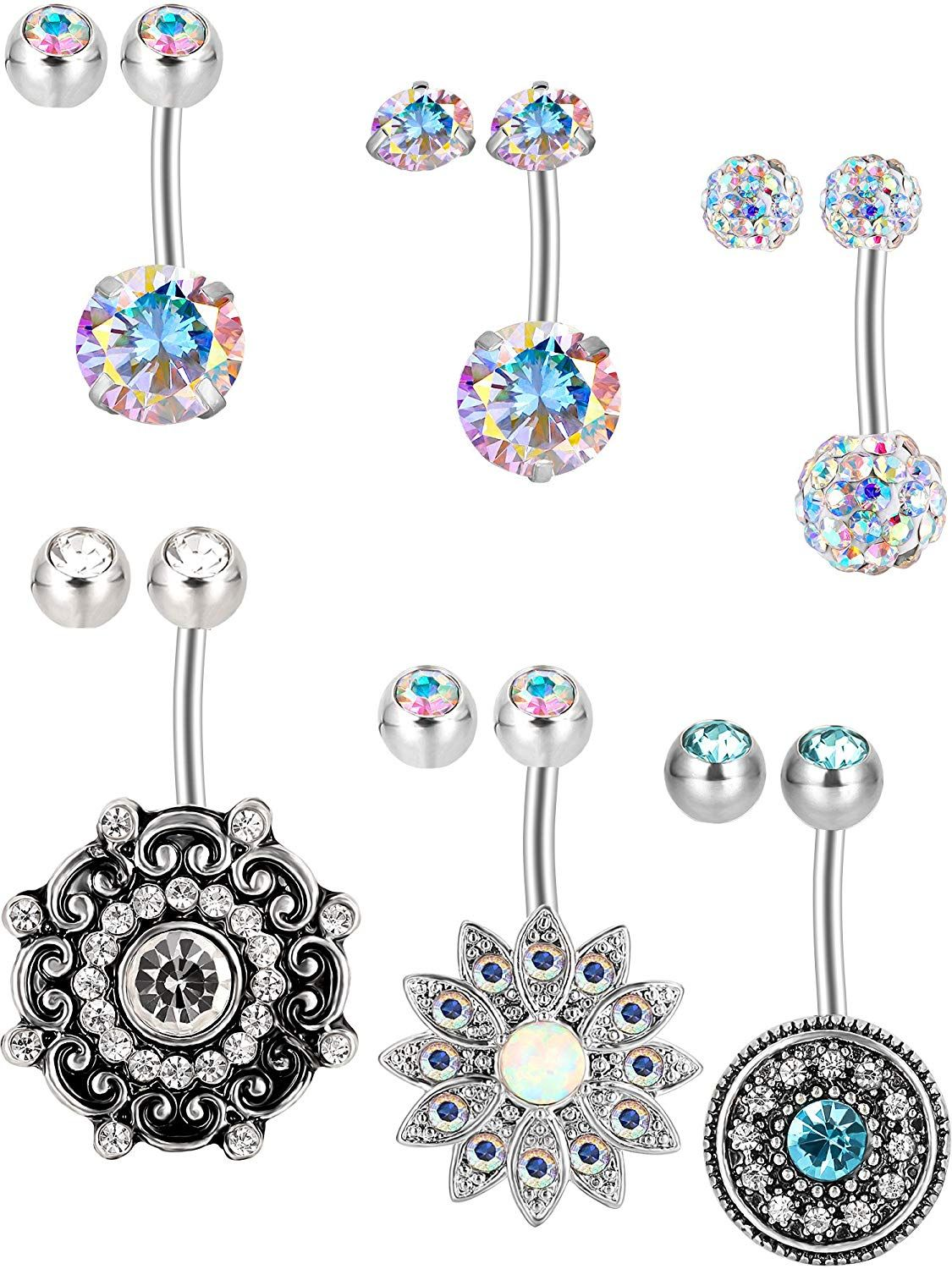 Belly piercing 2018  Jovitec  Pieces  G Stainless Steel Belly Button Rings Navel Screw