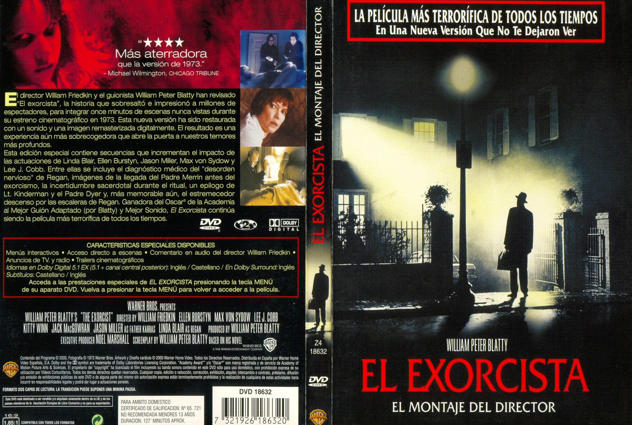El Exorcista Libro Oculto Dvd Cover Spanish Film Miifotos