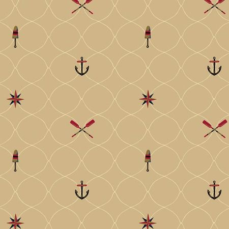 I pinned this Nautical Lattice Wallpaper in Tan from the Seaside Chic Wallpaper event at Joss and Main!