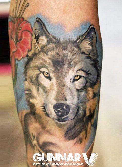 Wolf Tattoo By Gunnar V Post 12830 Animal Tattoo Wolf Tattoo Animal Tattoos
