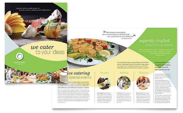 Sample Brochure Templates Free Download White and Turquoise Business