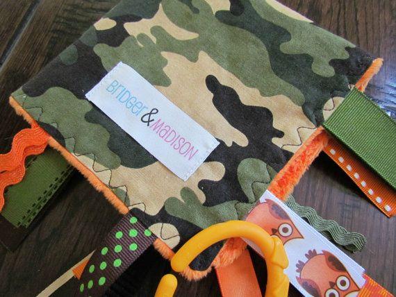 Jungle Camo Ribbon Sensory Blanket