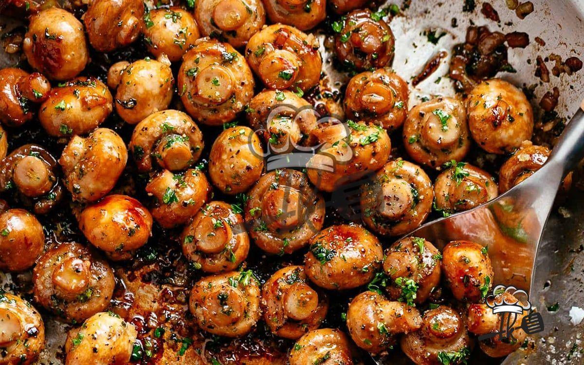 Photo of Garlic mushrooms-Knoblauch Champignons  These juicy garlic m…