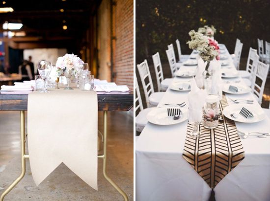 Creative Table Runners  DIY With Kraft Paper | At Home In Love