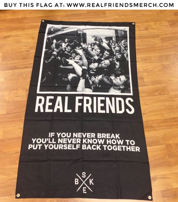 Real Friends 5 X3 Live Shot Flag Real Friends