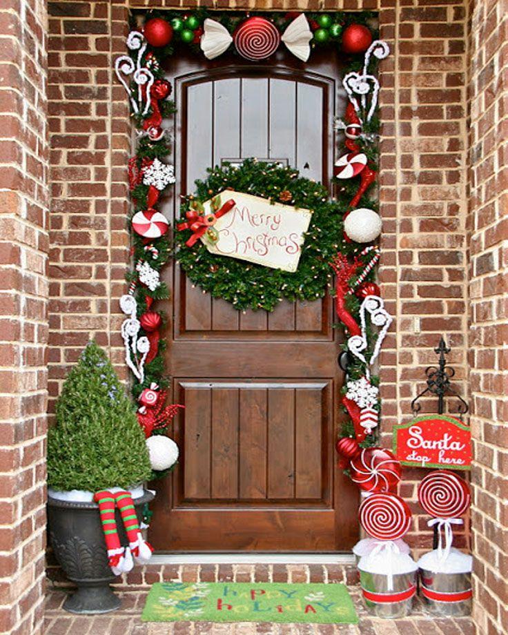 Front Porch Decorations La corona y le puedo poner feliz Navidad
