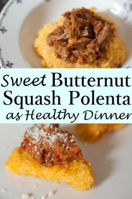 The sweetness of this Butternut Squash Polenta is simply undeniable! The  combination of butternut squash
