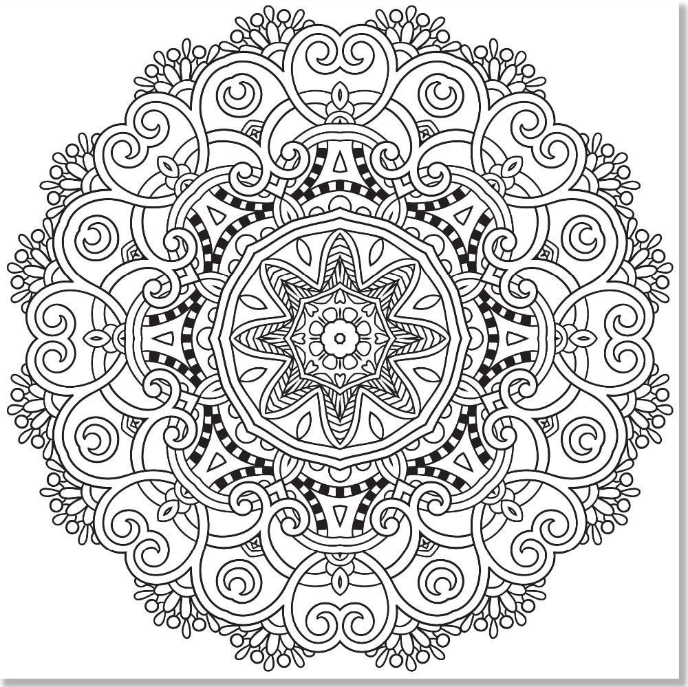 Free coloring pages for adults mandala - Adult Coloring Pages Mandala 3