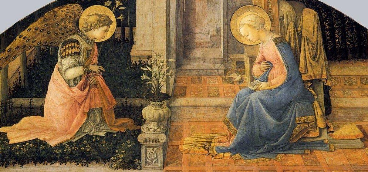 'Annunciation' by Filippo Lippi  ~The Three Prayers: December 2014