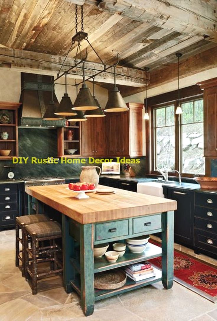 Amazing Rustic Kitchen Island Diy Ideas Nel 2020 Idee Per L