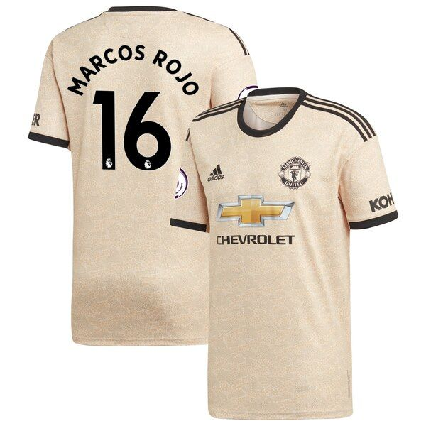 Marcos Rojo Manchester United adidas Youth 2019/20 Away Replica Player Jersey - Tan #ManchesterUnited Whenever Manchester United is on the field your young fan is tuned in. Be sure your kiddo is outfitted properly by grabbing him this Marcos Rojo 2019/20 Away Replica Player Jersey! It's exciting being a devout Manchester United fan and your youngster will be the biggest one around in this adidas jersey featuring crisp team graphics and climalite technology that will keep him cool as he cheers