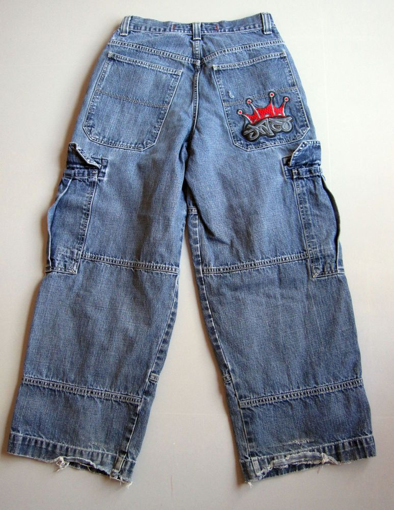 d15265cc87 Vintage Mens 32 x 30 JNCO Jeans Tribals Baggy Fix Blue Jeans Skater 29 x  29.5 #JNCO #BaggyLoose