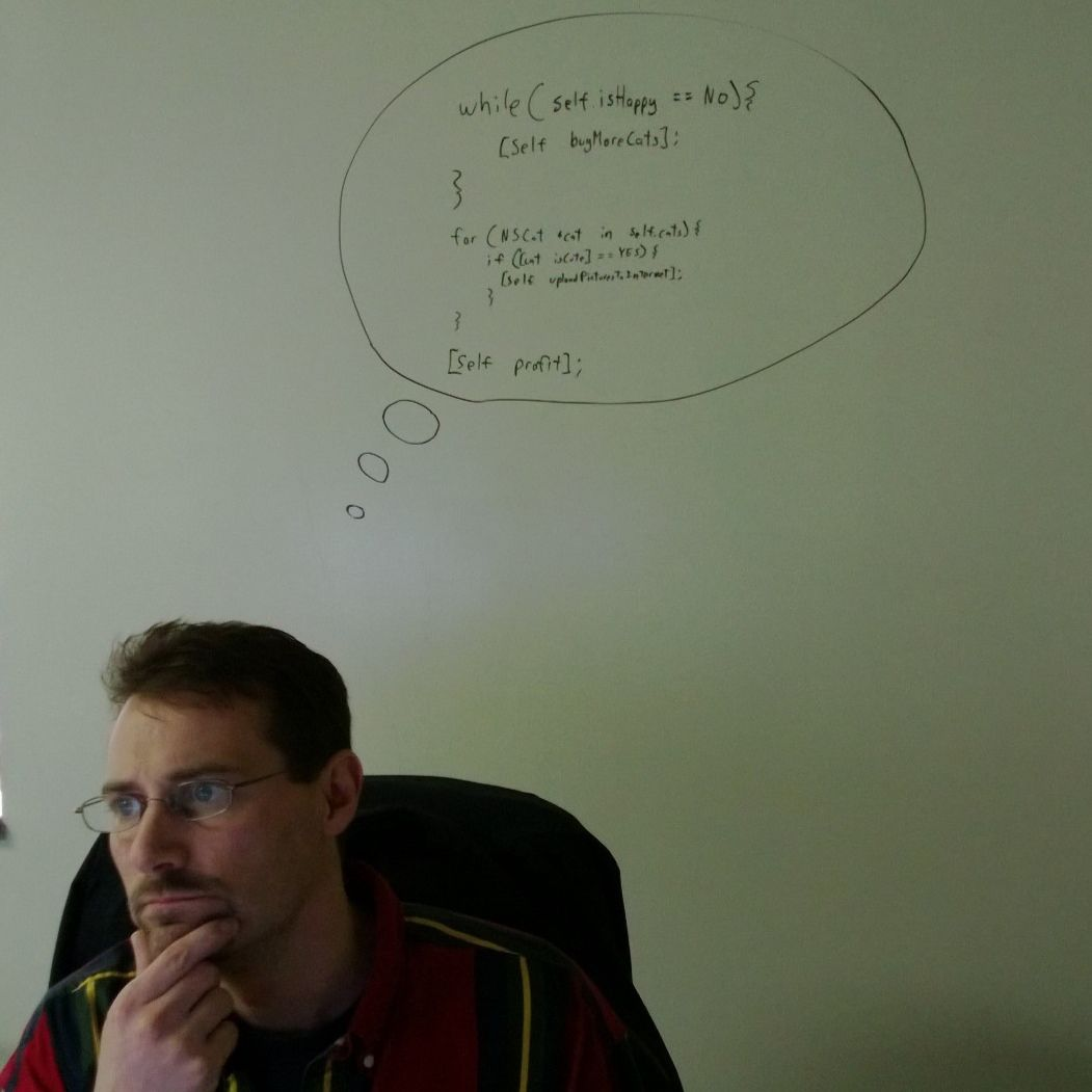 Our team lead Andy, contemplating his new code.
