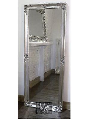 Gerona Silver Shabby Chic Leaner Vintage Floor Mirror 25\