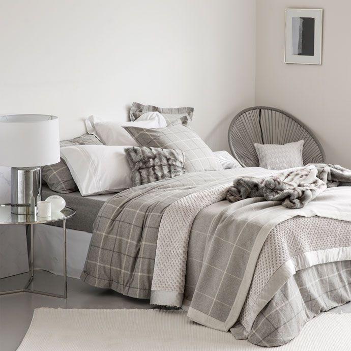 linge de lit carreaux flanelle linge de lit lit zara. Black Bedroom Furniture Sets. Home Design Ideas