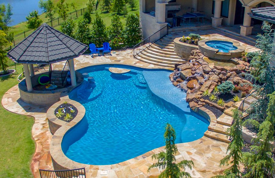 Free Form Pool Ideas is part of Cool swimming pools, Backyard pool designs, Pool landscape design, Pool patio, Backyard pool, Swimming pools backyard - Swimming pool pictures of free form designs  View pictures here
