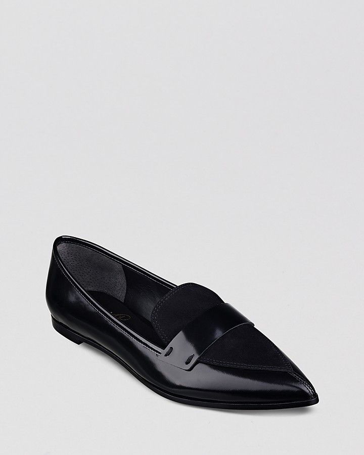 5903d2db241e Ivanka Trump Pointed Toe Loafer Flats - Zamor on shopstyle.com ...