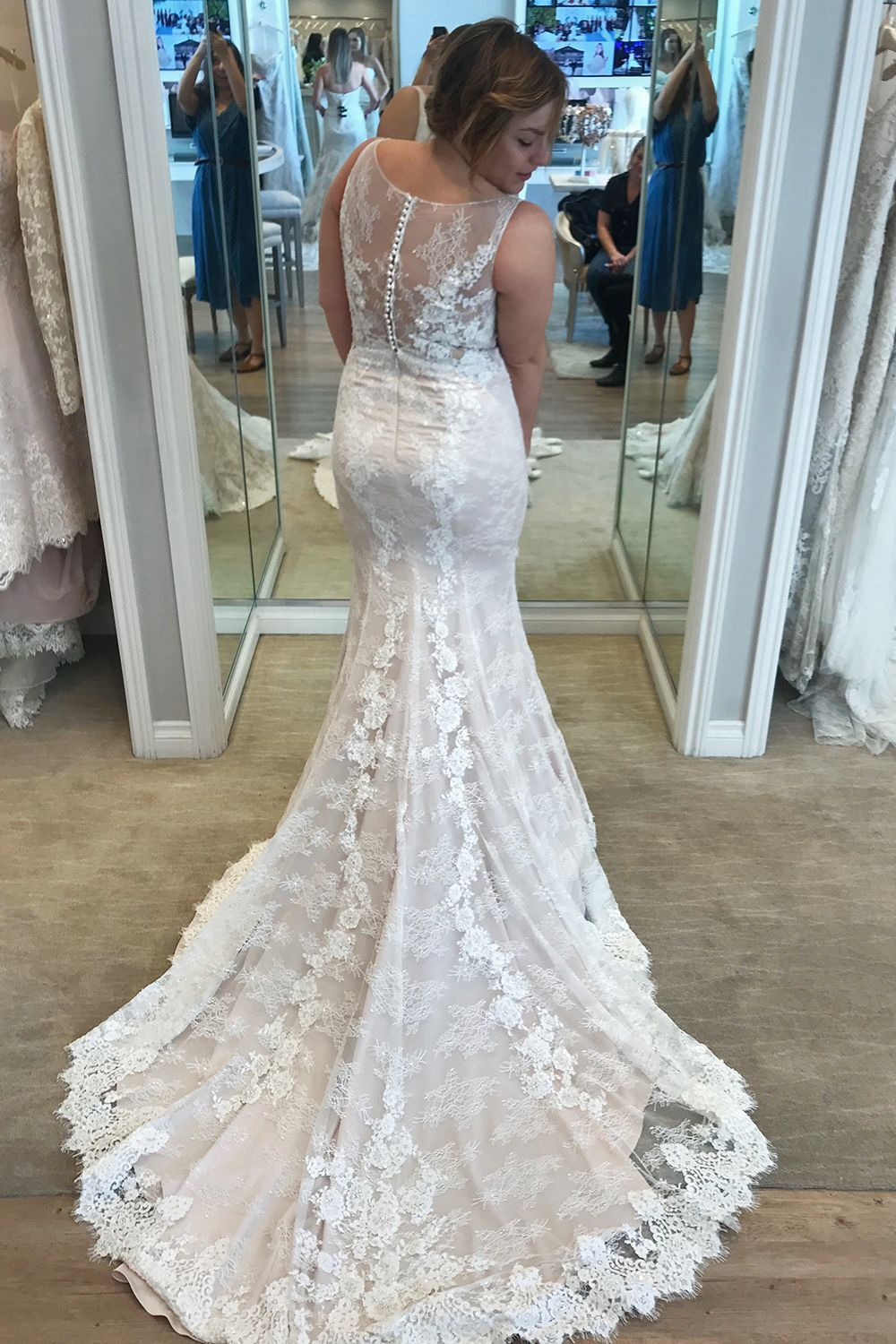 Fit And Flare Lace Wedding Dress By Casablanca Bridal The