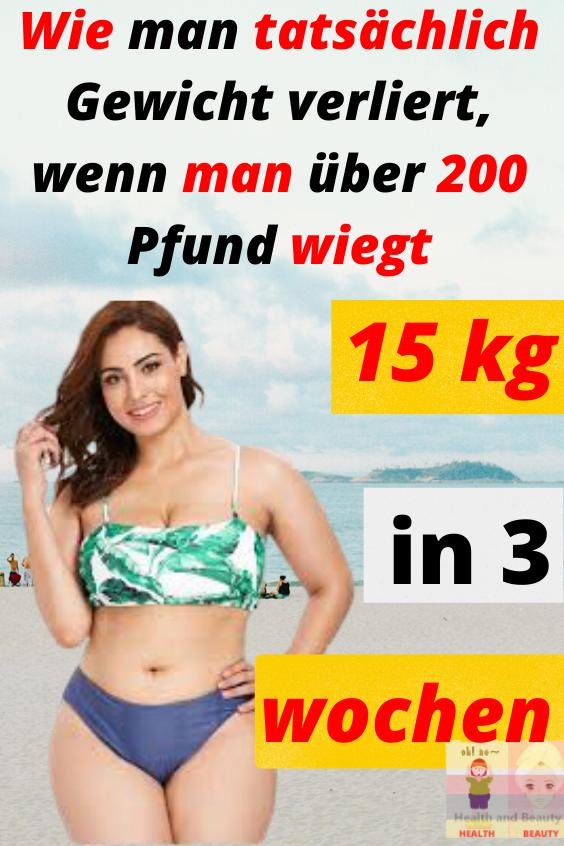 Wie man in 1 Monat 20 Kilo zu Pfund Gewicht verliert