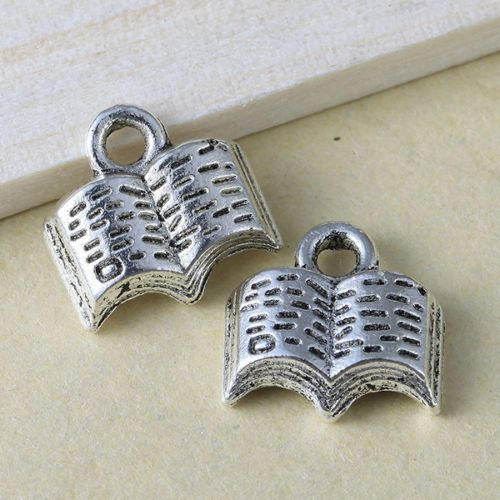 30pcs-New-Charms-Book-Antique-Silver-Alloy-Pendants-Findings-ON-SALE-KP0249
