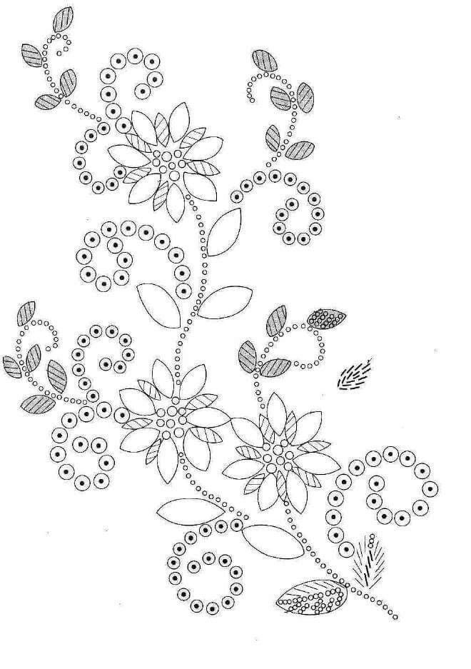 Embroidery Pattern Bead Work Bw Pattern From Crazy Quilts