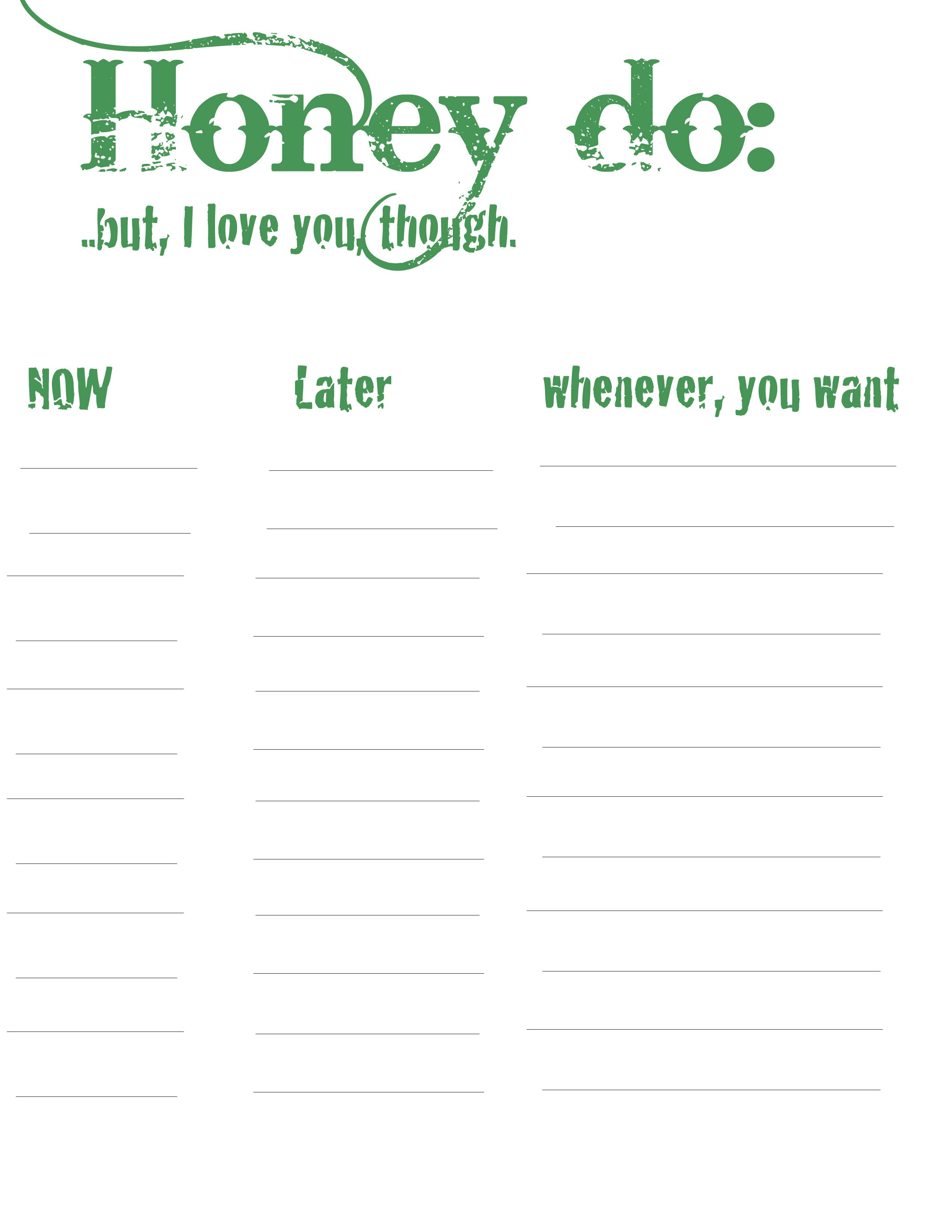 image relating to Honey Do List Printable identify Honey do listing! Incorporate A Class: Collectively