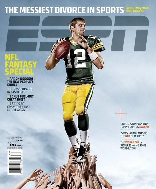 Aaron Rodgers Espn The Magazine Cover Espn Magazine Green Bay Packers Fans Sports Magazine Covers