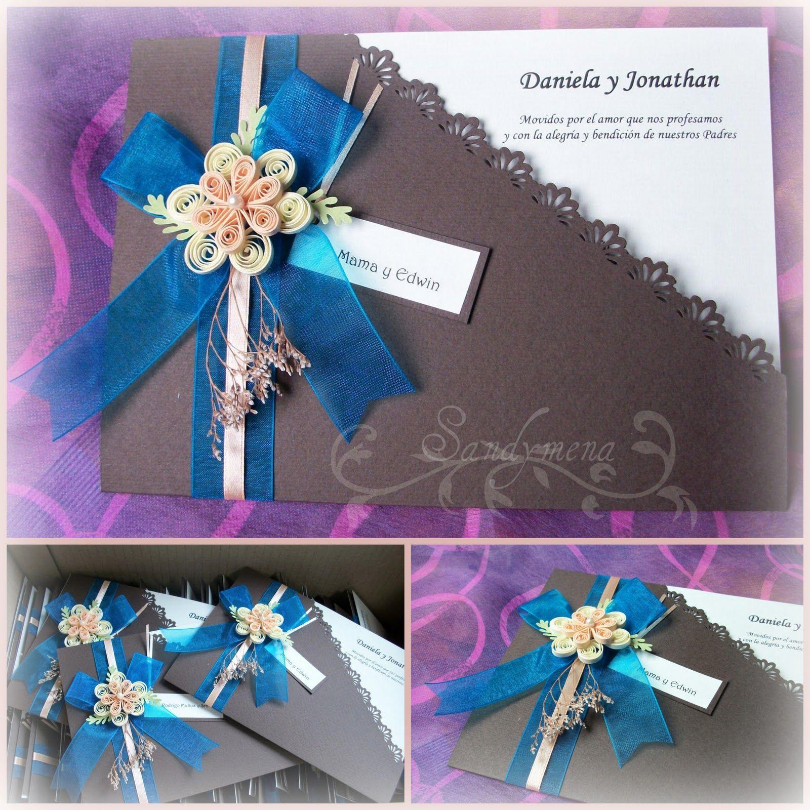 Tarjetas Artesanales Invitaciones De Matrimonio Wedding