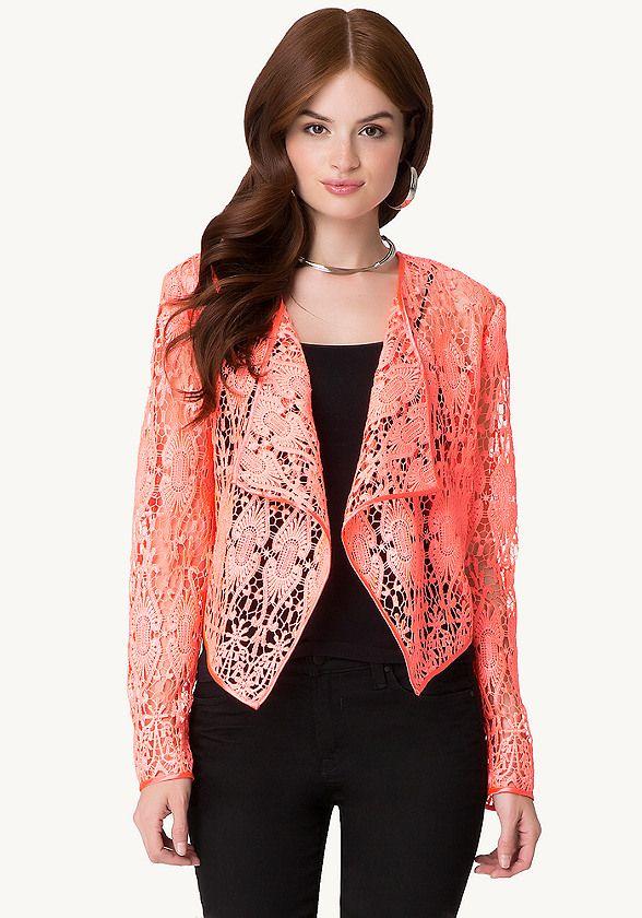 Crochet Lace Jacket - All Sale   bebe