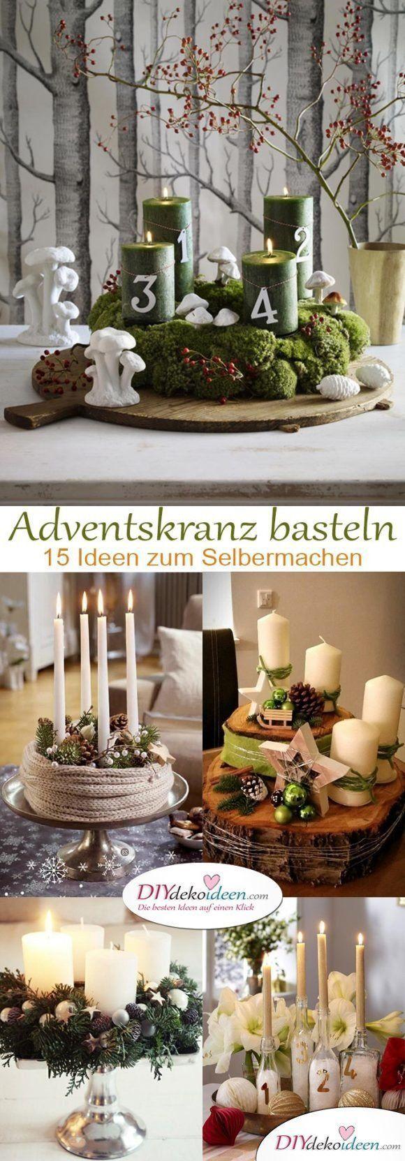 DIY Bastelideen – Adventskranz basteln in der Vorweihnachtszeit #diybirthdaydeco…