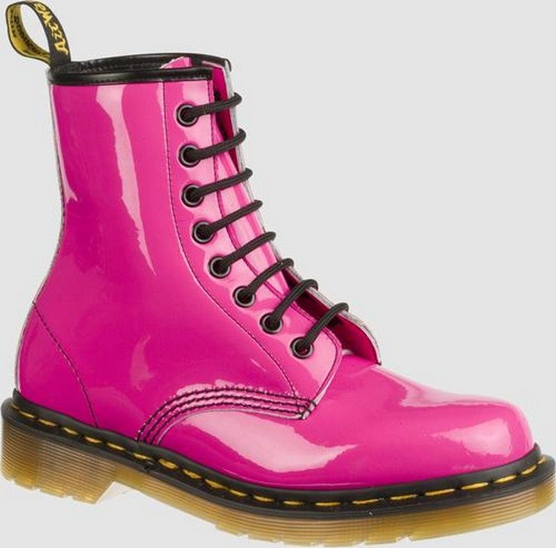 Dr Martens 1460 W 8 Eye Boot Hot Pink Patent 12000 Valentines Day Boots  http