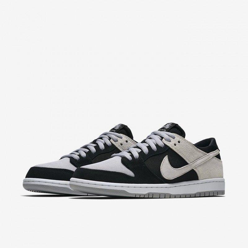 Nike SB Dunk Low Pro Black White White Wolf Grey