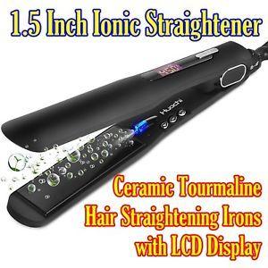 Huachi Hair Straightener Flat Iron with Wide Plates 1.5 Inch Ionic Straightener Ceramic Tourmaline Hair  sc 1 st  Pinterest & Hair Straightener Flat Iron Wide Plates1.5